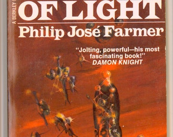 Philip Jose Farmer, Night of Light 1972 Berkley Medallion Book with Cover Art by Richard Powers Vintage Paperback Science Fiction