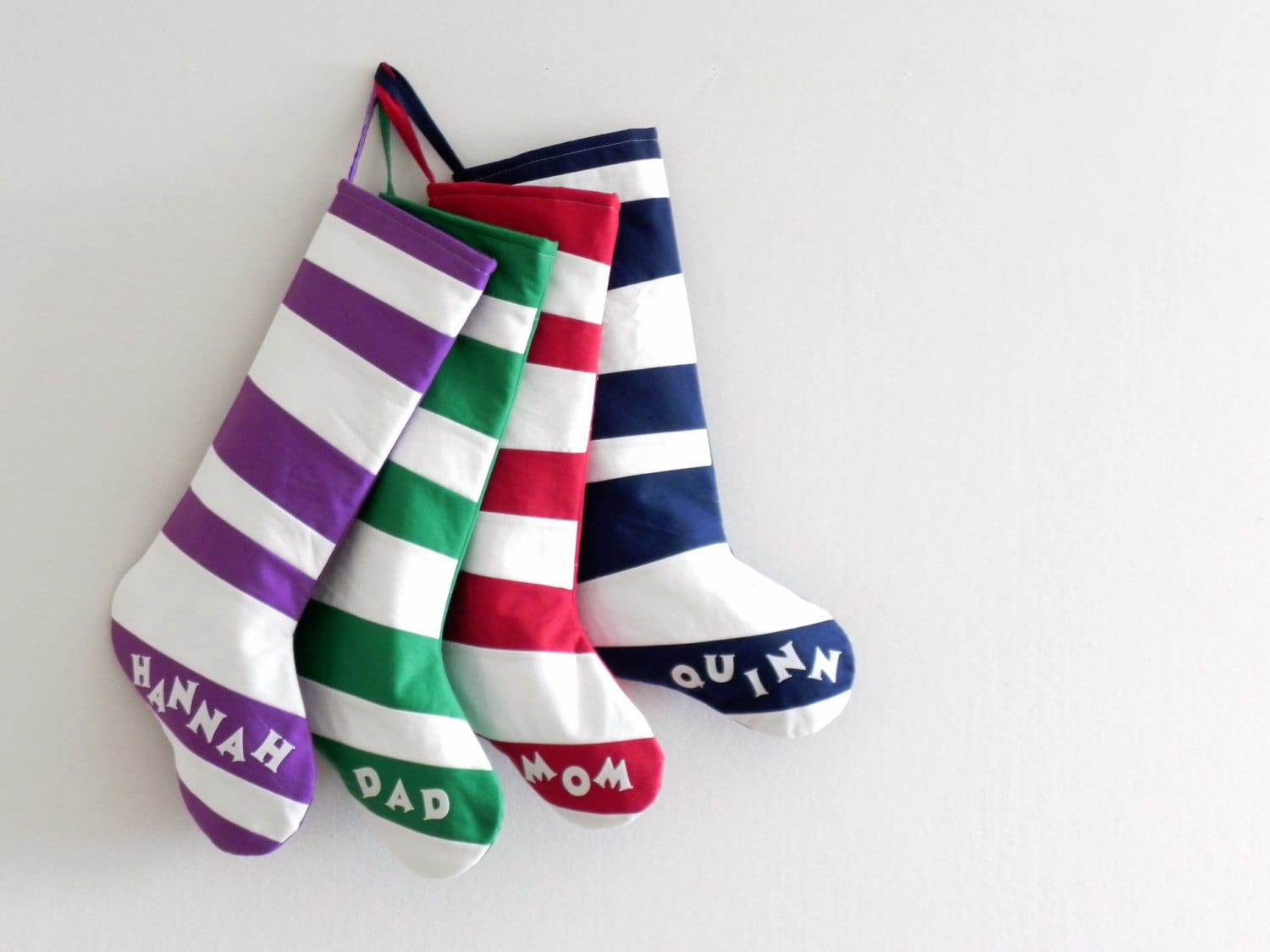 Quilted Personalized Christmas Stocking Personalized Stocking, Kids Family  Stockings, Modern Striped Boy Girl Holiday Decoration, Dr Seuss