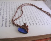 Steampunk gear heart Pendant with custom color choice.  Clockwork Valentine jewelry