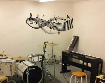 Music Wall Decal Note Stickers Music Wall Art Wall Decor Decals Mural  Bedroom Living Room Sticker