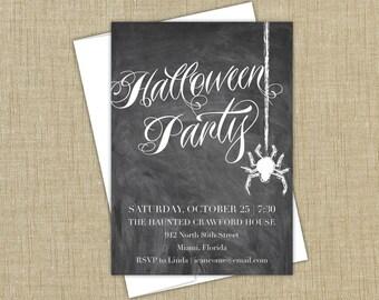 Halloween Party Invitation. Spooky Halloween Invitation