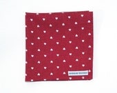 CUSTOM LISTING for Logan- Hearts cotton pocket square