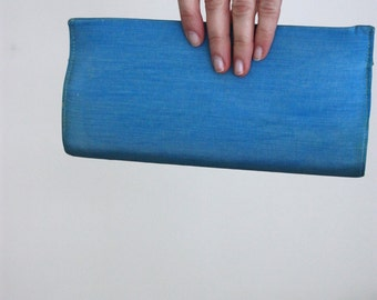 Vintage 1960's Powder Blue Hardcase Rectangular Clutch