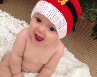 Knitted Santa Hat - Newborn - Christmas hat