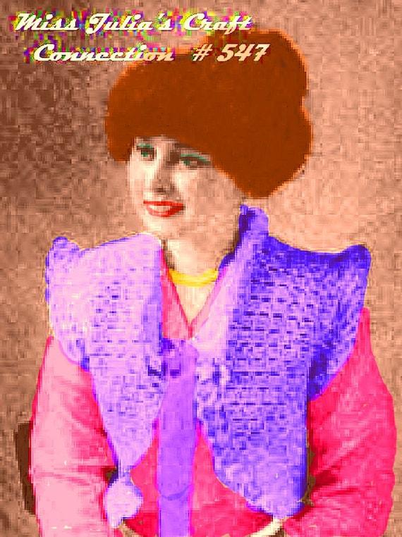 Vintage 1916 Lace Bolero Sweater Vest Jacket 547 PDF Digital Crochet Pattern