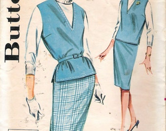 """Vintage 1960's  Butterick 9873 Quick 'N Easy Coordinates Sewing Pattern Size 16 Bust 36"""""""
