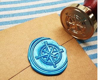 Buy 1 Get 1 Free - 1 pc Compass Gold Plated - Handmade retro gifts Wax Seals Stamp Wax Seal(WS08)