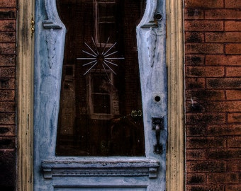 keyhole door - fine art photography, 4x6 5x7 8x10, philadelphia philly architecture
