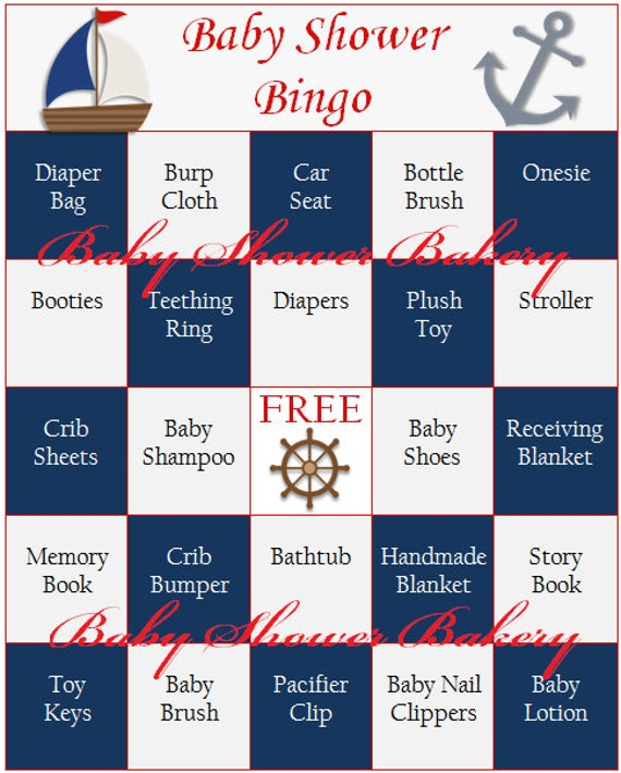Nerdy image with free printable nautical baby shower games