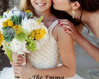 INSTANT DOWNLOAD The Emma - Girls Crochet Tutu Dress PDF Pattern