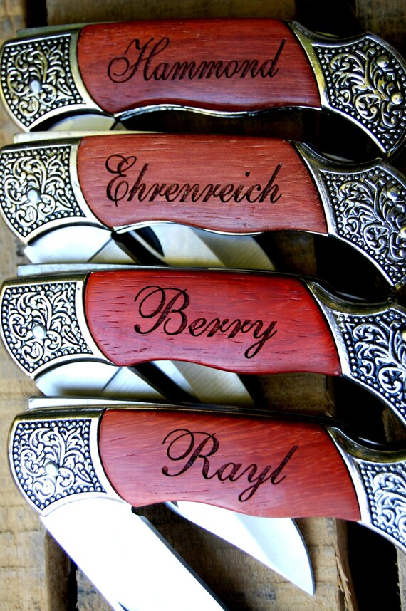 Wedding Present Knives : Custom Wedding Gift, Personalized Knives, 6 Groomsmen Pocket Knife ...