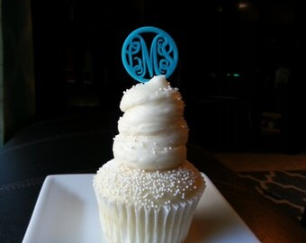 Monogram Cupcake Toppers (Acrylic)