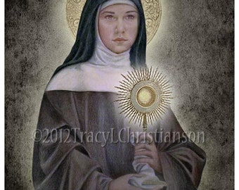 St. Clare of Assisi 8x10 Print Free Shipping #4070