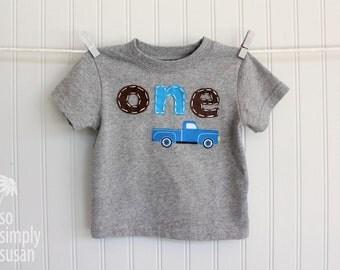 Little blue truck shirt, boy's first birthday shirt, boy's number shirt, boy's one shirt, boy's two tee, truck birthday party, 3rd birthday