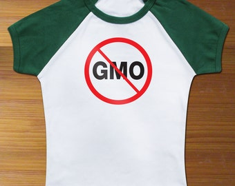No GMO Food Raglan Toddler Shirt