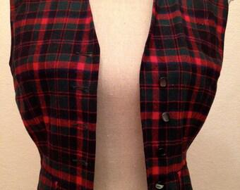 60's Pendleton Plaid Wool Vest