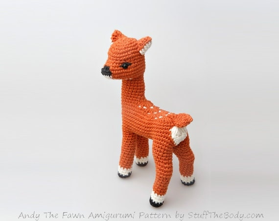 Amigurumi Deer : Andy The Fawn Amigurumi Pattern Seamless Deer by StuffTheBody