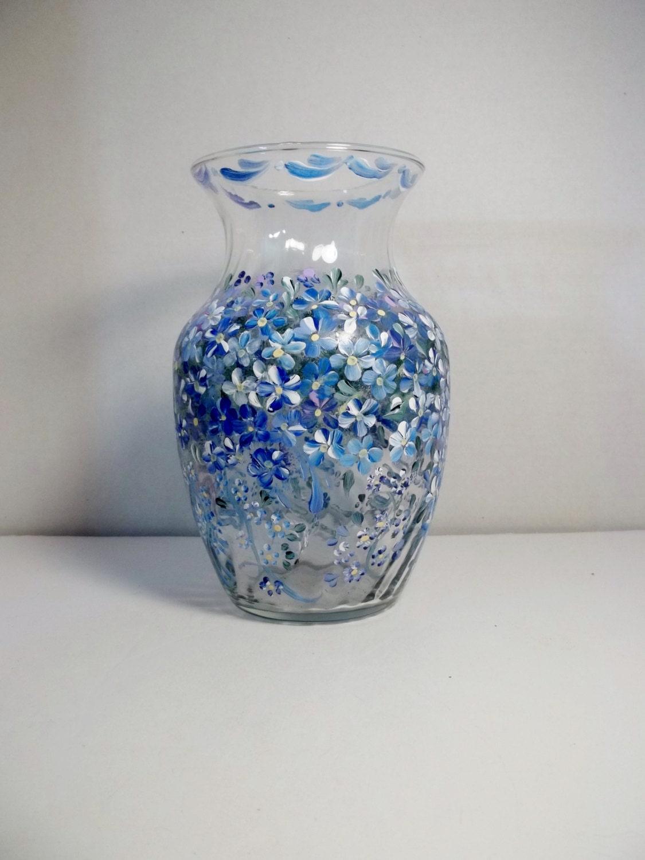 a vintage glass vase hand painted original design rosemaling. Black Bedroom Furniture Sets. Home Design Ideas