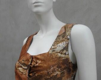 Vintage Bronze long silky dress