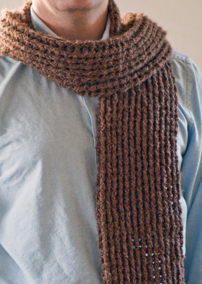 Scarf Pattern Mens Crochet Scarf Pattern by HiddenMeadowCrochet