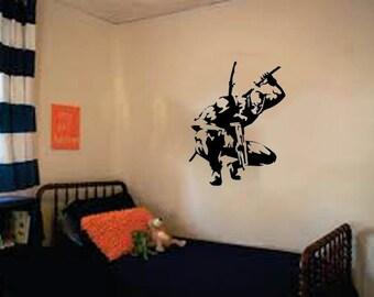 """Deadpool (Marvel Comics) ninja Wall Decal-  (20""""w X 26""""h)"""