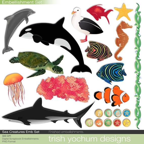 Sea Creature Digital Scrapbook