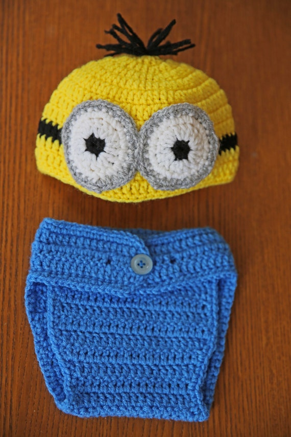 Minion Despicable Me Movie Beanie and Diaper Cover by ...