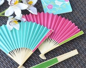 Personalized Fans - Personalized Hand Fans - Personalized Wedding Fans - Paper Hand Fans for Wedding Paper Wedding Fan (EB2121P) set of 24|