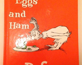 Vintage Green Eggs and Ham/Dr. Seuss/1988 Beginning Books, Clean, Ex Copy!