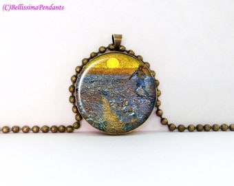 The Sower, Vincent van Gogh, 1 in. 25.4 mm necklace or keychain