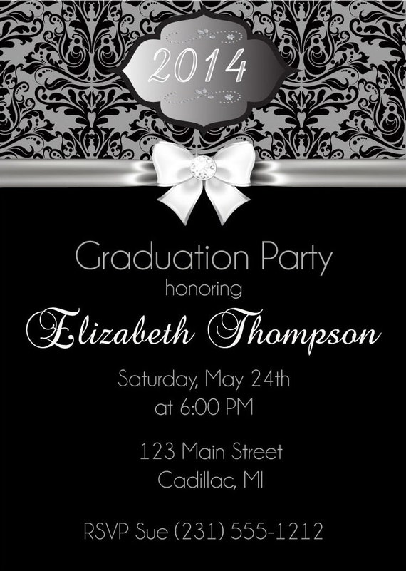Elegant Graduation Party Invitation High on High School Graduation Invitations Printable
