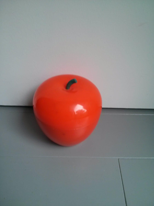 pomme orange en plastique bac gla on vintage orange par 10h01. Black Bedroom Furniture Sets. Home Design Ideas