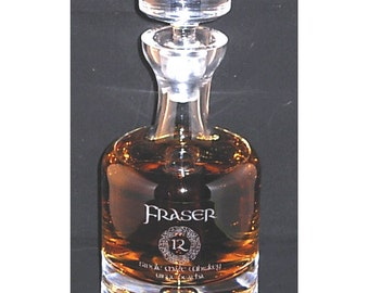 Engraved Whiskey Decanter, Personalized Whiskey Decanter, Crystal Whiskey Decanter, Custom Decanter, Custom Logo, Liquor Bottle, Taylor