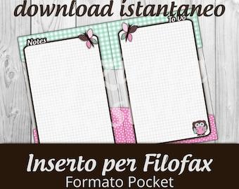 inserto to do - notes washi tape Pocket- Printable -