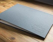 Etsy Order For H&Co Blind Deboss (Emboss) On Leather or Book Cloth Portfolio or Album