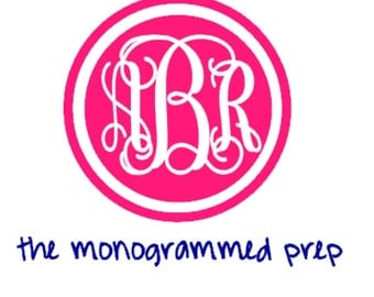 Monogrammed Car Decal Sticker, Personalized Car Sticker, Monogram sticker, Monogram Decal