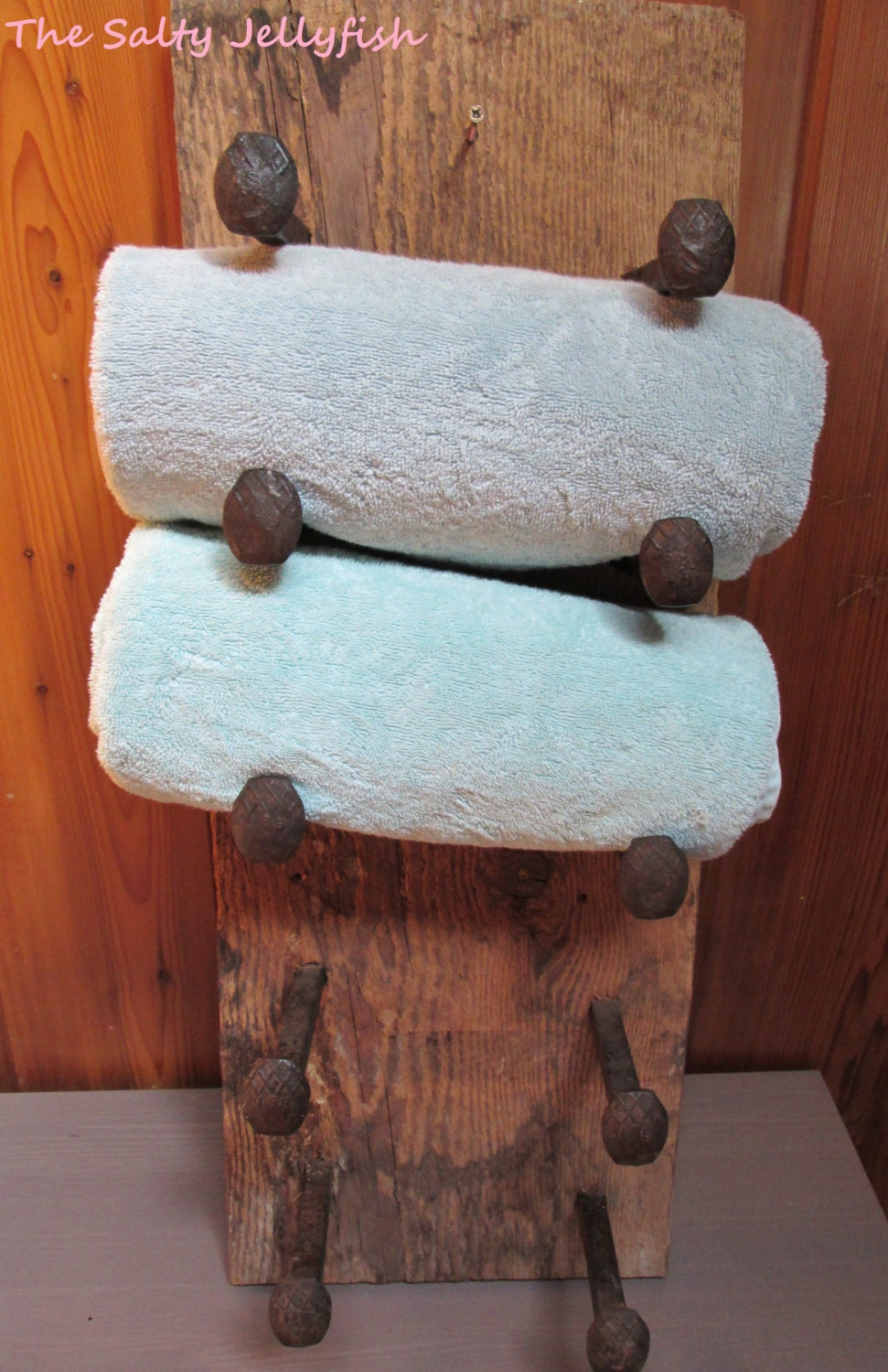 Hand Towel Holder Rustic Towel Rack With Industrial Railroad Spike