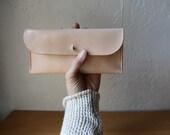 Handstitched Leather Checkbook Wallet