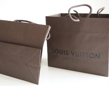 LOUIS VIUTTON Gift Bag New AUTHENTIC Gift Christmas  Regift Repurpose Diy Fashion High End 5th Ave Luxury Purse Holiday  TheHeartTheHome