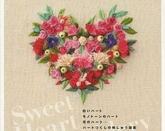 Sweet Heart Embroidery - Ayako Otsuka - Japanese Craft Book, Hand Embroidery Designs - Easy Embroidery Tutorial, Bags & Pouches - B1311