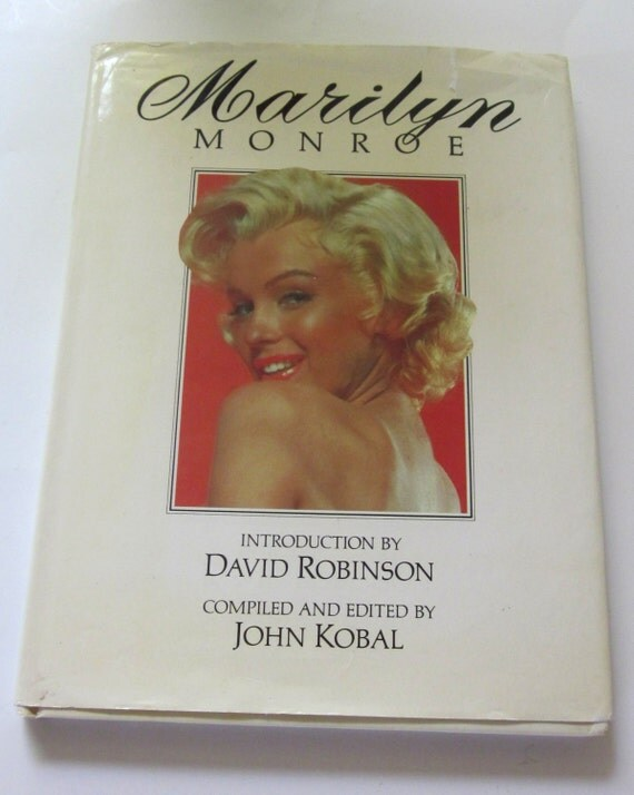 Vintage-70s-Marilyn Monroe-by John Kobal-1974-Hard Cover-Book-Pictorial-Biography-Marilyn Monroe