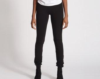 Skinny Sweats- Black Skinny Sweatpants Leggings