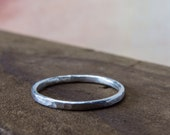 Stacking Ring – Stackable Ring — Dainty Ring — Hammered Silver Ring – Minimal Silver Ring – Stackable Silver Ring – Silver Stacking Ring