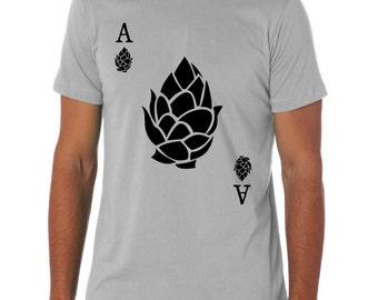 Ace of Hops Craft Beer Shirt, Poker Shirt, Beer Geek, Beer Hops, Homebrewer Shirt, Hops Shirt, Gift for Dad, Beer Festival