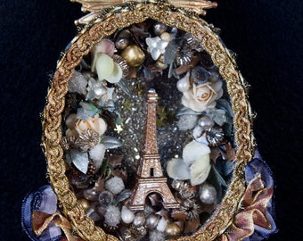 French reliquary featuring Eiffel Tower