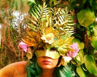 SOLD!- Wood Nymph Fairy Mask for Masquerade