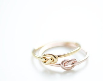 Gold Ring with knot, filigree ring, delicate ring, dainty ring, ring with knot,friendship ring,bestseller ring,romantic ring,Christmas Gift,
