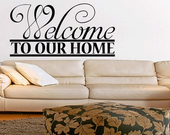 Wall Quotes Welcome To Our Home Vinyl Wall Decal Quote Removable Wall Sticker Home Decor Art (540)