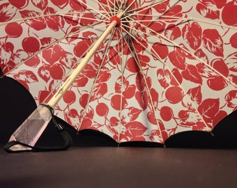Rare Double-Layered Restored Vintage Umbrella. Rockabilly!