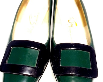 FREE  SHIPPING   1950's patent leather shoes